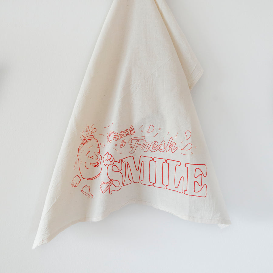 Crack A Fresh Smile Tea Towel