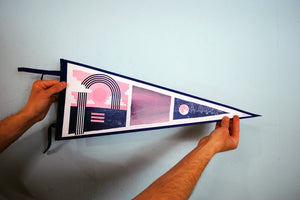 Pink And Blue Sky Pennant