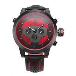 Be-Shark Men's Sport Black And Red Dial Dual Time Zone Analog Watch SH207be