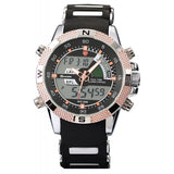 Be-Shark Men's Sport LED Watch Black Dial Alarm Day And Date