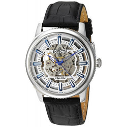 Invicta Men's Objet D Art Automatic Stainless Steel and Leather Casual Watch
