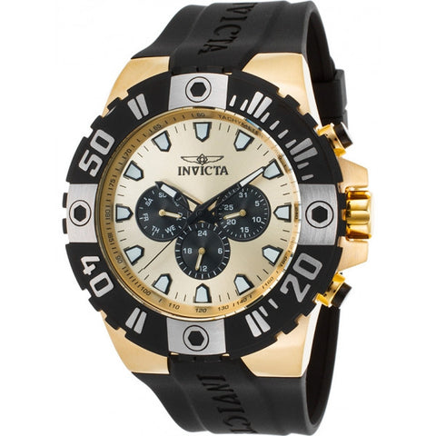 Invicta Men's Pro Diver Quartz Stainless Steel and Polyurethane Casual Watch, B