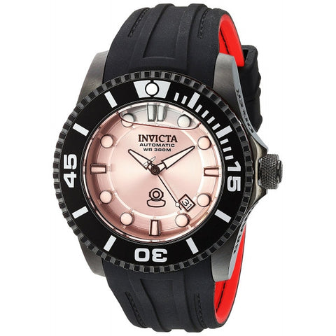 Invicta Men's Pro Diver Automatic Stainless Steel and Silicone Diving Watch