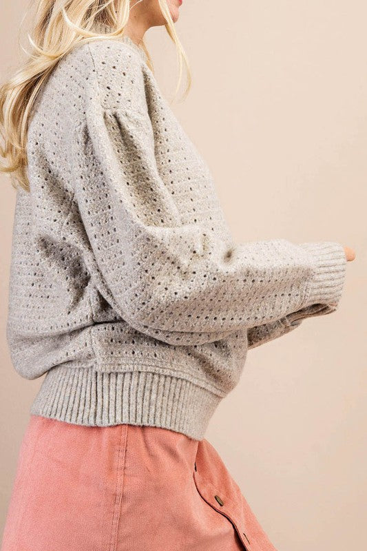 Polly Pullover Sweater In Oatmeal