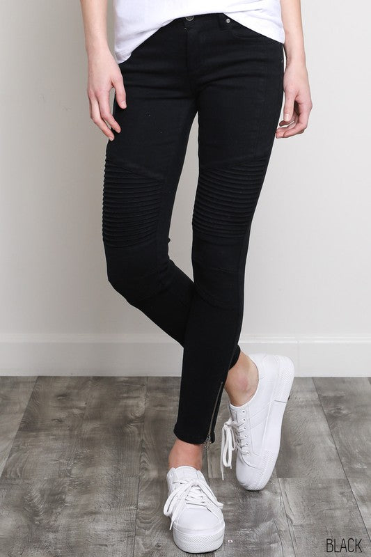 Moto Jeans in Black