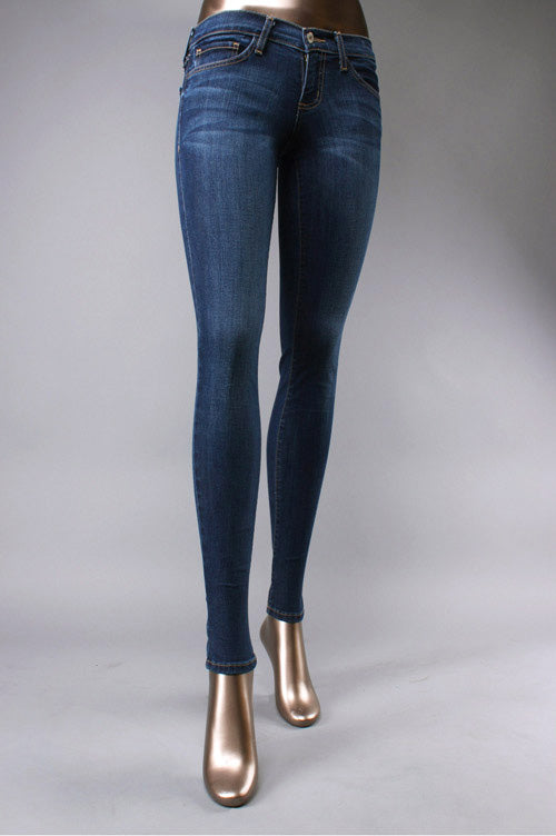 REGULAR RISE DARK WASH SKINNY