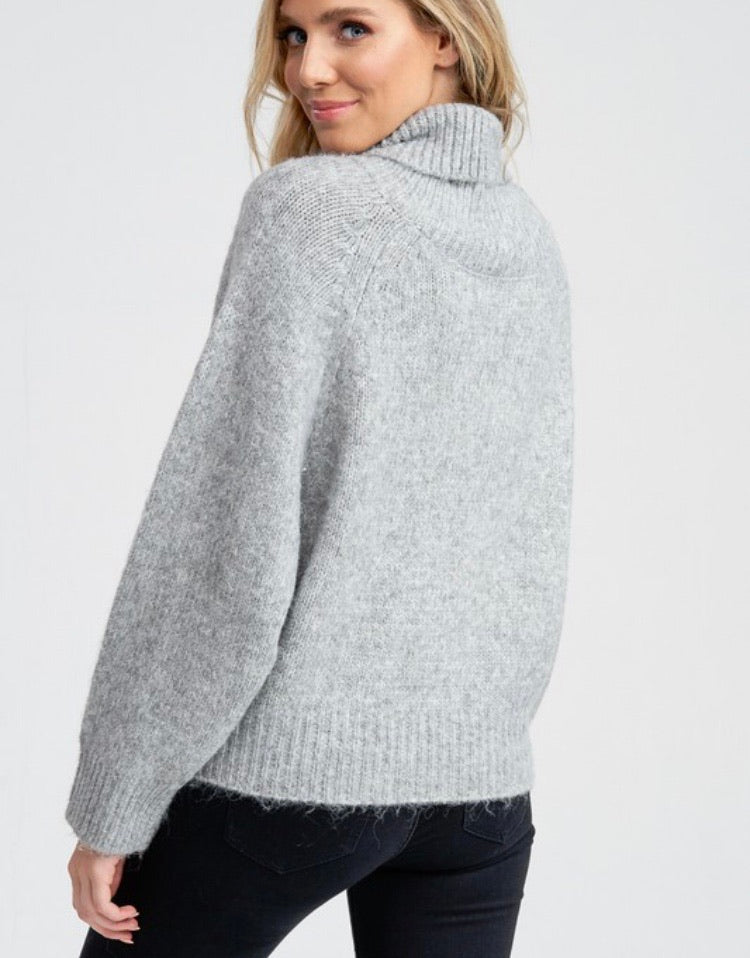 Kate Turtleneck in Grey