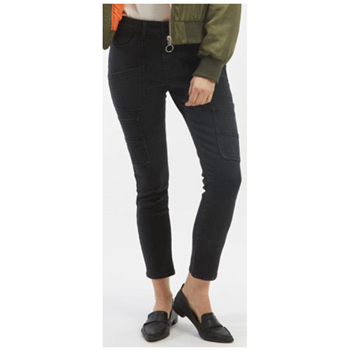 Mid-Rise Skinny Carpenter Jean in Washed black