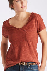 Johanna Spray Wash Tee in Ginger