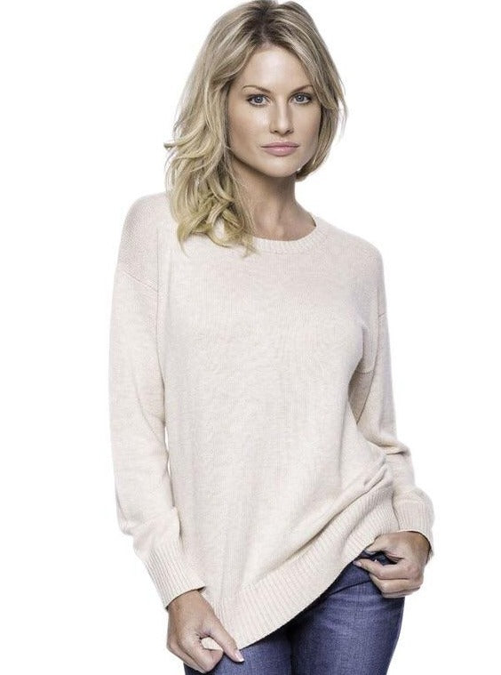 Paige Cashmere Blend Crewneck in Oatmeal