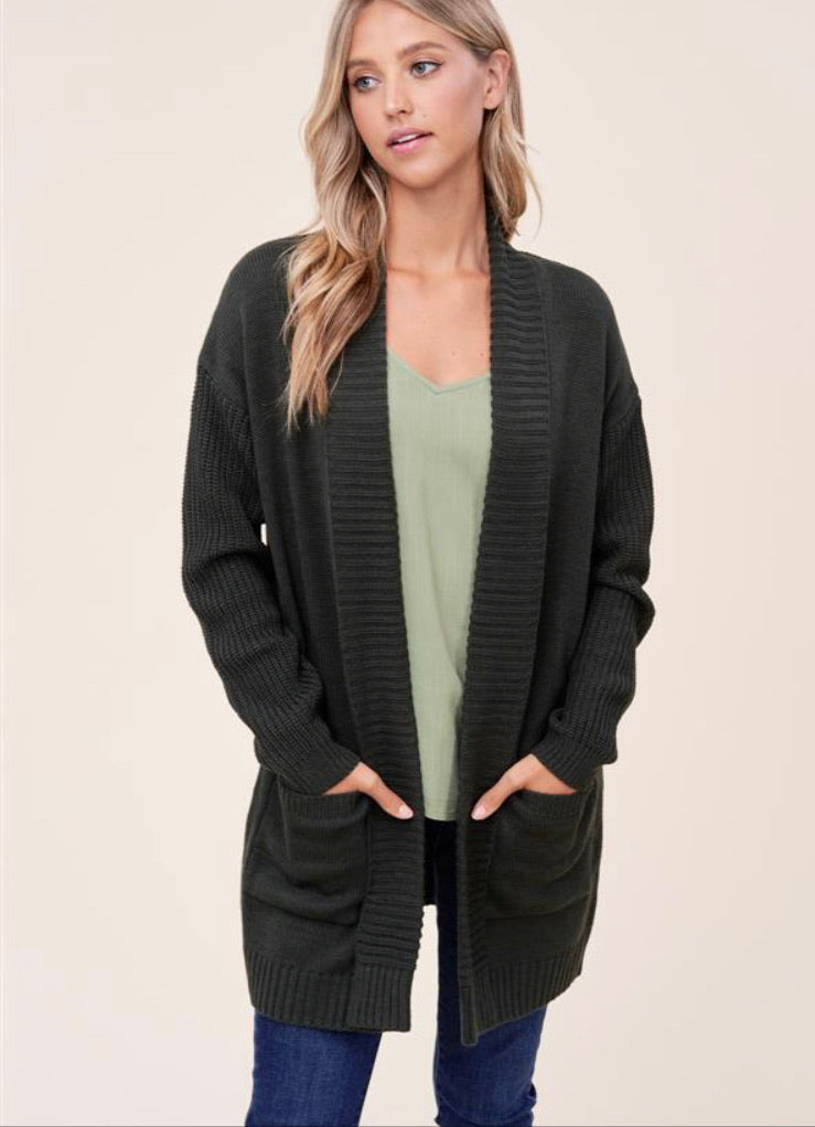 Sophia Cardigan in Olive