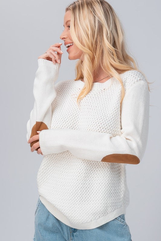 The Julie Woven Sweater in Ivory
