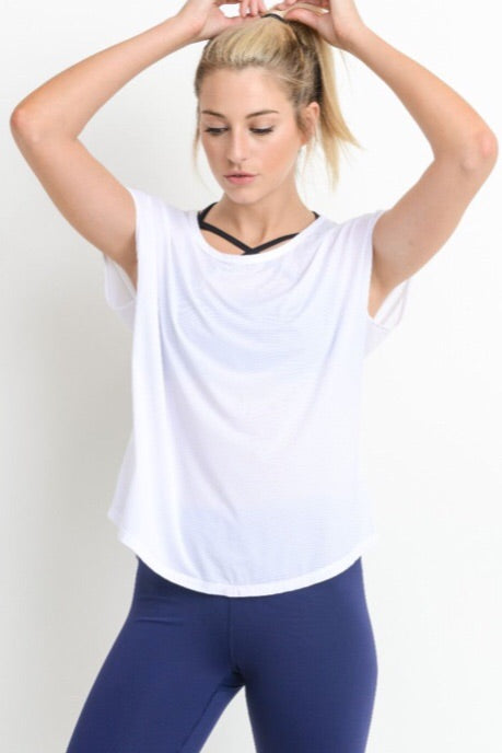 Strapped Back Active Top in White