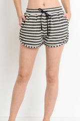 Striped Dolphin Shorts