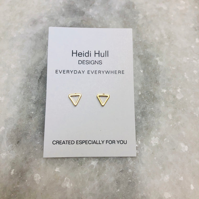 Gold Plated Triangle Studs