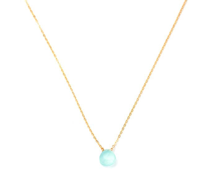 Mint Green Gemstone Necklace