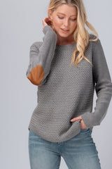The Julie Woven Sweater in Grey