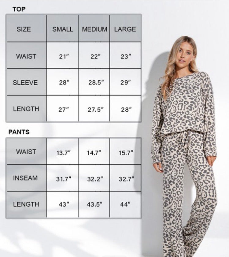 Jamie Leopard Lounge Set