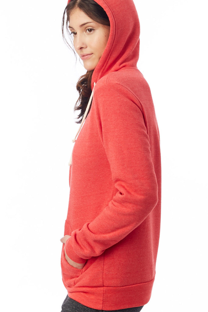 Unisex Challenger Eco-Fleece Pullover in True Red