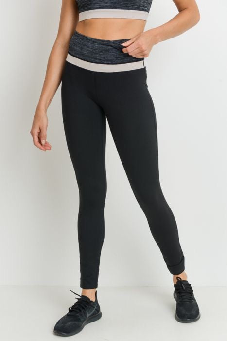 High Waisted Colorblock Full Legging