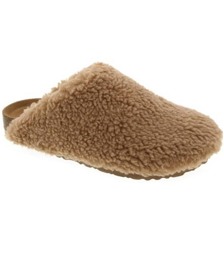 Oh So Soft Sherpa Clog in Camel