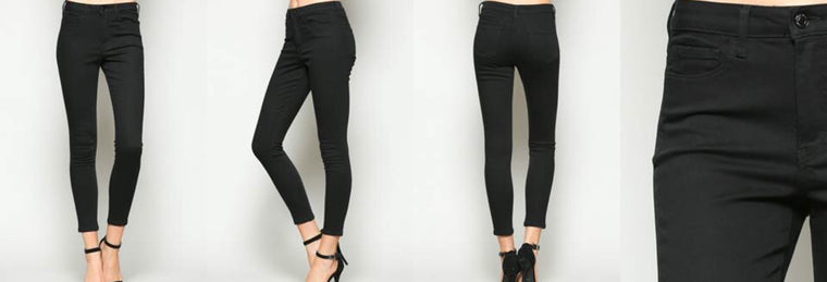 Mid Rise Super Stretch Skinny in Black