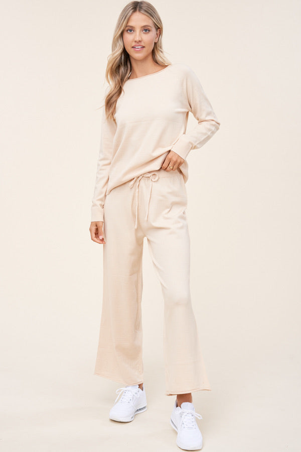 Thelma Loungewear Set in Ivory