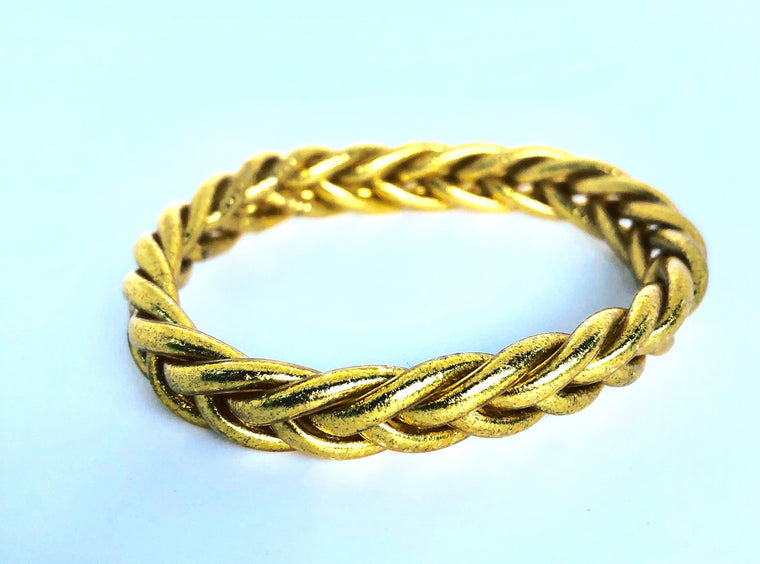 Braided Lucky Thai Bracelet in Gold