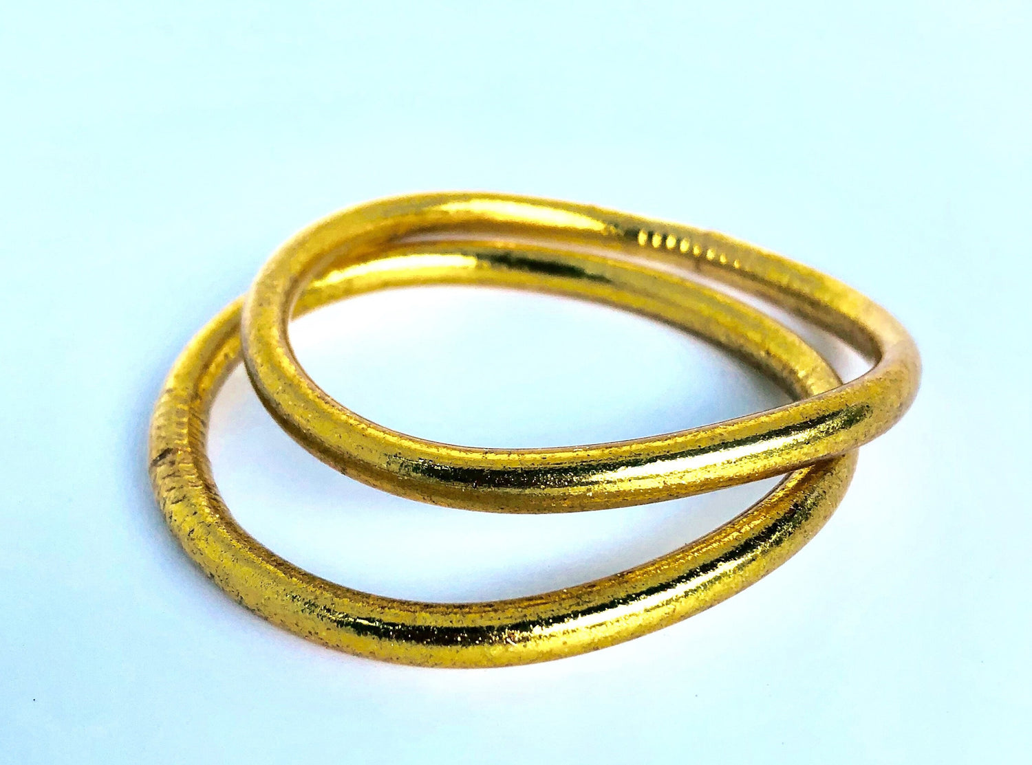 Thick Design-Gold Leaf Temple Bangle