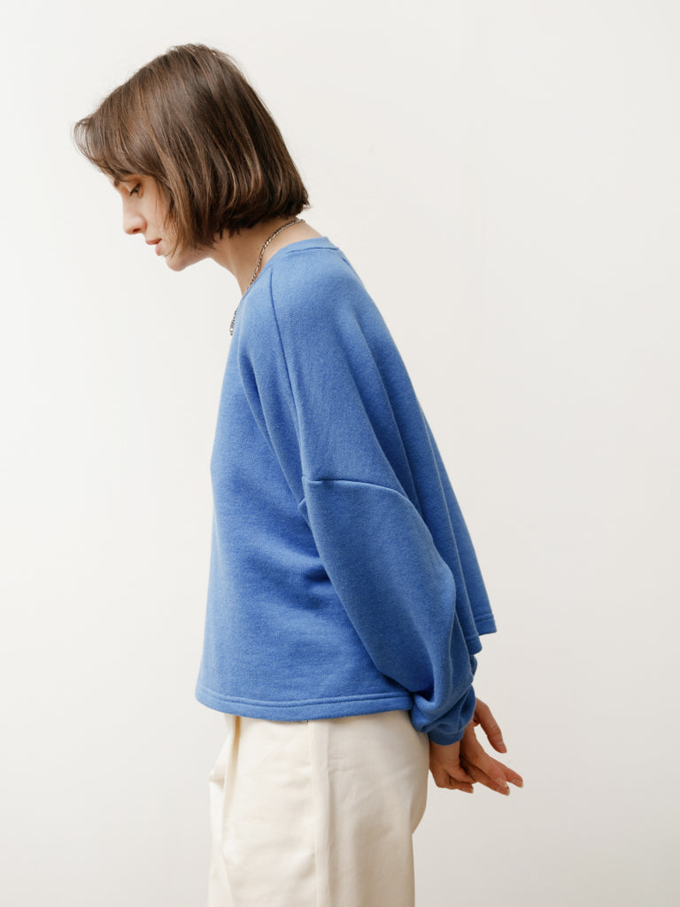 vintage crew - terry cornflower blue