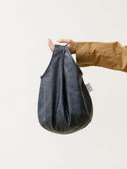 egg tote - vegan leather navy