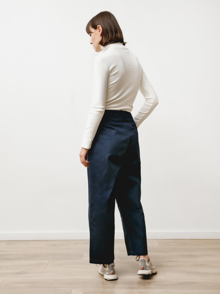Pleat Trouser - Canvas Twill Midnight
