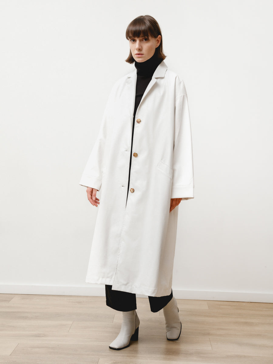 bell jacket - vegan leather white