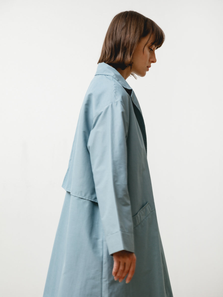 bell jacket - anorak steel blue