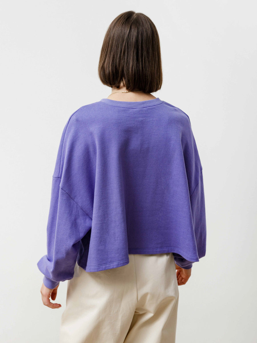 Summer Crew - Lightweight Terry Dark Lavender