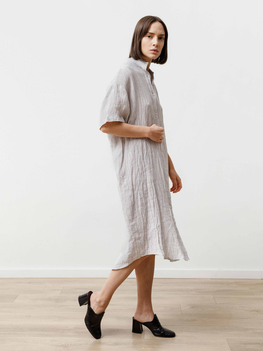 Tenn Dress - Crinkle Linen Silver