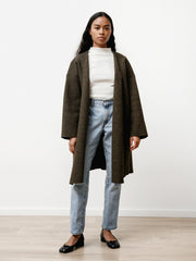 Ura Coat - Boiled Wool Heather Green