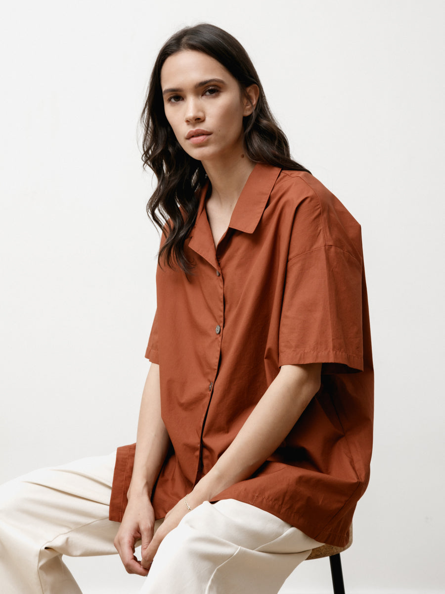 edition shirt - light poplin chestnut