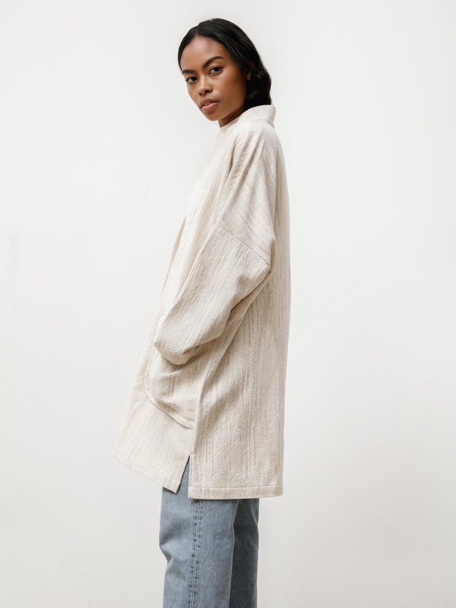 L/S Range Jacket - Natural Jacquard Cream