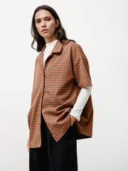 Edition Shirt - Italian Checked Plaid Camel/Red