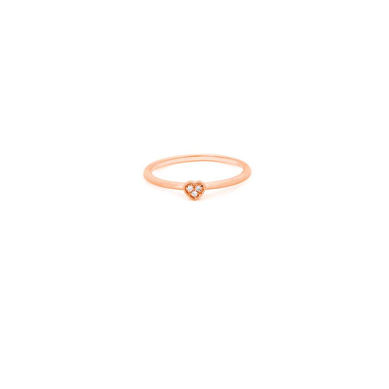 ICON heart diamond ring in gold