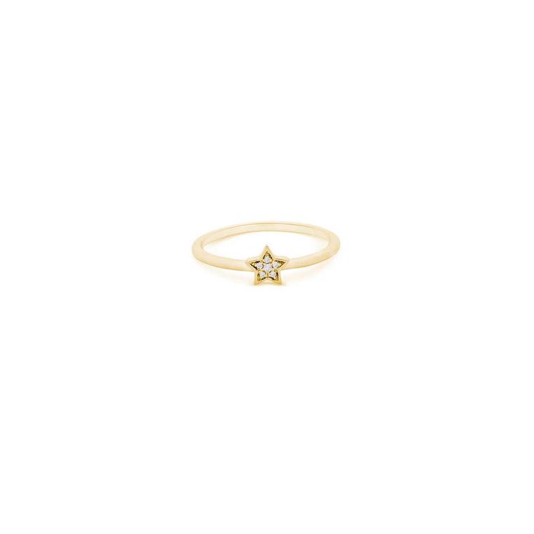 ICON star diamond ring in gold