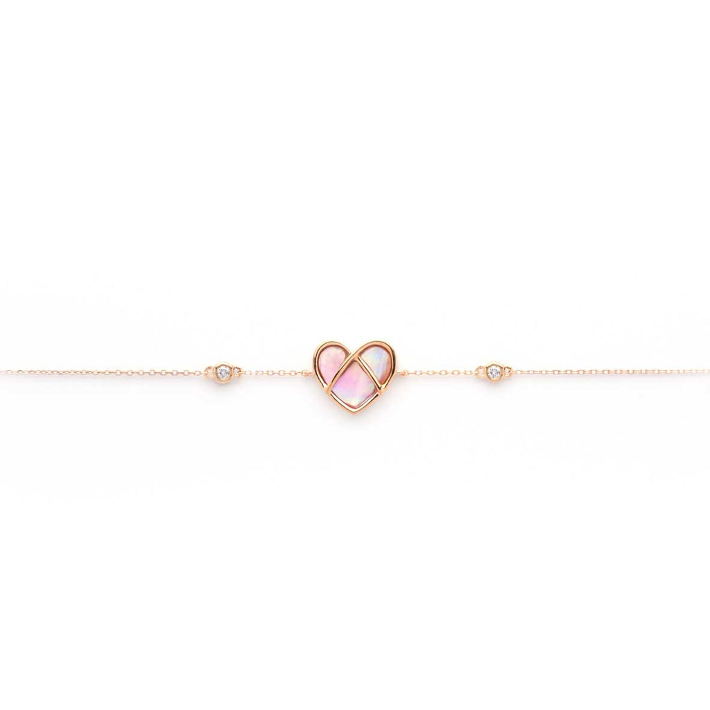 CAGED heart Bracelet with mother of pearl - bracelets - Mika & Co