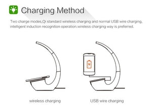 QI Intelligent Wireless Charger lamp for iPhone & Samsung