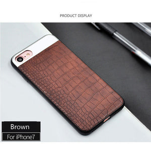 Crocodile Leather for iPhone case