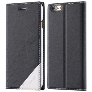 Leather Flip Case For iPhone
