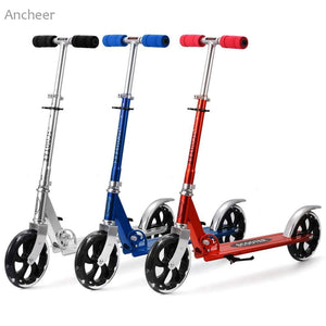 Aluminum Alloy Adjustable Folding Foot Scooters For Children and Adults