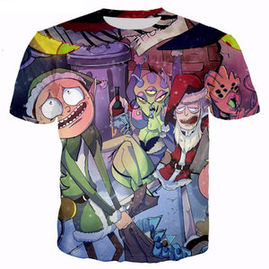 Christmas 360 Rick And Morty T-shirts