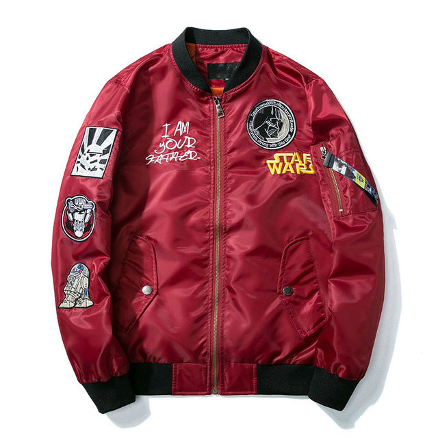 Star Wars Embroidery Bomber Jacket Street