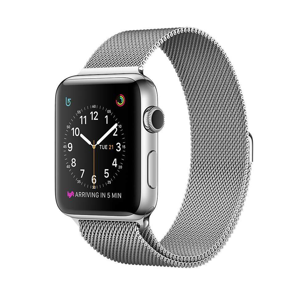 iWatch Stainless Steel Case with Milanese Loop